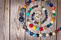 Fije de los botones de la vendimia Fotos de archivo libres de regalías
