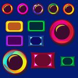 Fije de los botones del diseño para las páginas web stock de ilustración