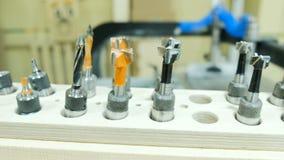Fije de los cortadores de diversos tamaños, perforadora moderna de la carpintería, primer metrajes