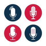 Fije de los ejemplos de radio del icono foto de archivo libre de regalías