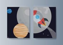 Fije de los folletos para la exploración espacial y la investigación de la gravedad libre illustration