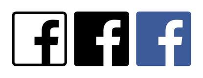 Fije de los iconos de Facebook ilustración del vector