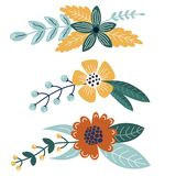 Fije de los ramos brillantes para su diseño libre illustration