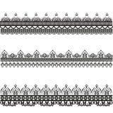 Fije de modelos decorativos del vector Mehndi stock de ilustración