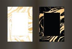 Fije de negro del vector y de la plantilla del diseño del oro para el partido, invitación, web, bandera, cumpleaños, boda, tarjet ilustración del vector