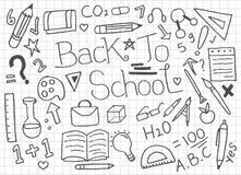 Fije de nuevo a los garabatos de la escuela - vector libre illustration