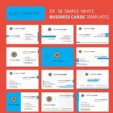 Fije de plantilla creativa de enlace química de la tarjeta de 12 Busienss Fondo logotipo y de la tarjeta de visita creativos Edit stock de ilustración