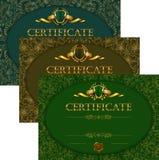 Fije de plantillas elegantes del diploma con el ornamento del cordón ilustración del vector
