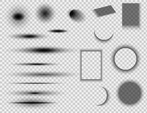 Fije de ronda y de efectos de sombra cuadrados ilustración del vector