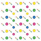 Fije de rosa coloreada del arte contemporáneo de las bolas ilustración del vector
