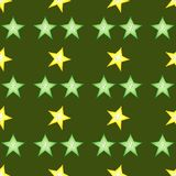 Fije de slieces del calambol en fondo verde stock de ilustración