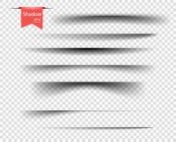 Fije de sombras cubiertas transparentes del vector Elementos realistas del diseño en un fondo transparente aislado para su diseño ilustración del vector