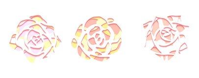 Fije de succulents apacibles con una visión superior con el fondo 3d cortado del papel en color en colores pastel en el fondo bla stock de ilustración