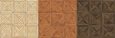 Fije de texturas inconsútiles de alta resolución del entarimado de madera Modelos de madera del mosaico imagen de archivo