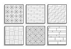 Fije de texturas inconsútiles del entarimado Golpeteo gráfico blanco y negro ilustración del vector