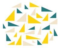 Fije de triángulos coloreados caóticos en el fondo blanco ilustración del vector