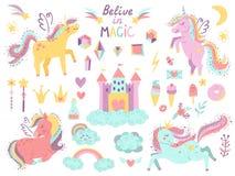 Fije de unicornios y de artículos de la fantasía libre illustration