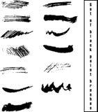 Fije de vector negro de las brochas del grunge ilustración del vector