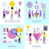 Fije de ventas sociales de los medios para concentrar libre illustration