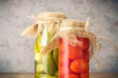 Fije de verduras fermentadas en tarros imagen de archivo libre de regalías