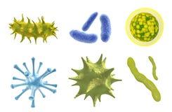 Fije de virus, del germen y de bacterias libre illustration