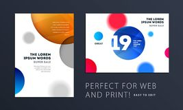 Fije del diseño de cubierta suave de la plantilla del folleto Extracto moderno colorido, informe anual con las formas para califi libre illustration