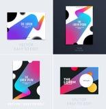 Fije del diseño de cubierta suave de la plantilla del folleto Extracto moderno colorido, informe anual con las formas para califi ilustración del vector