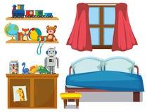 Fije del elemento del dormitorio libre illustration