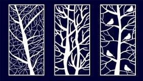 Fije del laser decorativo cortan los paneles libre illustration