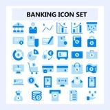 Fije 30 del negocio, actividades bancarias y el icono de las finanzas en estilo plano se dobla color de tono, ilustración del vector