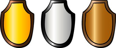 Fije del trofeo del deporte Recompensa y trofeo ilustración del vector