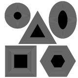 Fije diversas formas geométricas de f Fotos de archivo libres de regalías