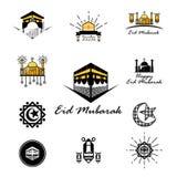 Fije a EId Mubarak Pack ilustración del vector