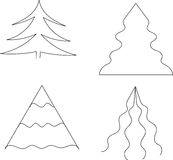 Fije el árbol de navidad blanco y negro Fotos de archivo