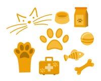 Fije el animal doméstico del icono del vector para la tienda del veterinario o de animales stock de ilustración