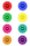 Fije el arco de los iconos para el ejemplo del vector del regalo Foto de archivo libre de regalías