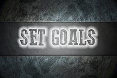 Fije el concepto de las metas Foto de archivo