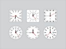 Fije el contador de tiempo del dial de reloj stock de ilustración