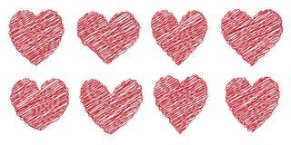Fije el corazón dibujado pintado con una mano del cepillo Imagen de archivo
