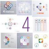 Fije el cycl conceptual de Infographics de 8 elementos universales de las plantillas Imagenes de archivo
