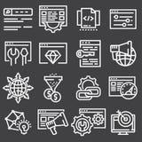 Fije el ejemplo de los iconos de SEO Search Engine Optimisation Elements libre illustration