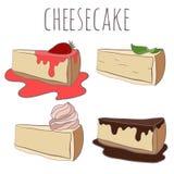 Fije el ejemplo del pastel de queso stock de ilustración