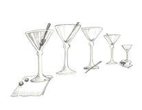 Fije el Em encima de los martinis de Joe Imagenes de archivo