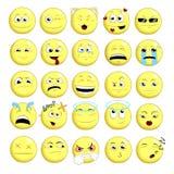 Fije el emoticon sonriente Foto de archivo libre de regalías