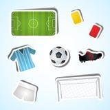 Fije el fútbol Foto de archivo
