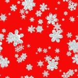 Fije el fondo aislado los copos de nieve Imágenes de archivo libres de regalías