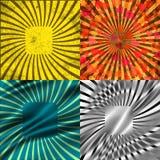 Fije el fondo coloreado vintage de los rayos EPS10 Vector Imagen de archivo