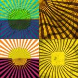 Fije el fondo coloreado vintage de los rayos EPS10 Vector Fotos de archivo libres de regalías