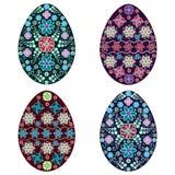 Fije el huevo de Pascua, vector, multicolor Foto de archivo