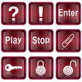 Fije el icono #05 rojo Imagen de archivo libre de regalías